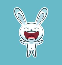 sticker emoji emoticon emotion joy shouting vector image vector image