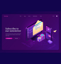 Subscribe to our newsletter banner vector