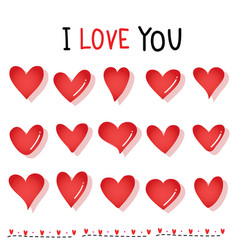 sweetheart i love you valentine heart vector image