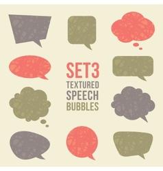 Textured speech bubbles set vector image