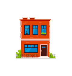 typical brick town house vector image