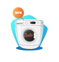 Washing machine in cartoon vector