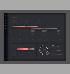 Web app dashboard ui and ux kit vector