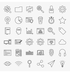 Web Development Line Icons Set vector image