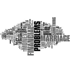 Why let financial problems ruin your marriage vector