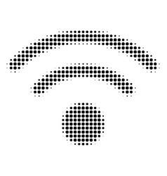 wi-fi halftone icon vector image