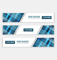 abstract banners for web header with button vector image vector image