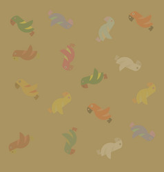 Parrots poster background vector