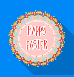 sticker happy easter easter single icon in flat vector image