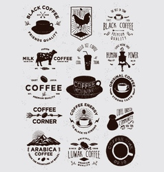 15 Coffee Vintage Badges vector image vector image