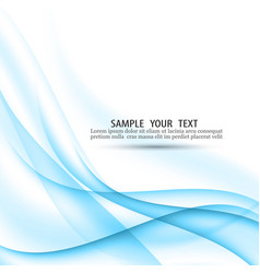 abstract blue background with smooth lines vector image
