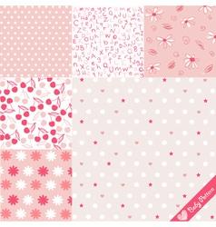 Baby pattern set vector