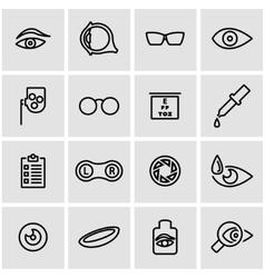 line optometry icon set vector image vector image