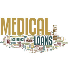 medical loans what to do when you need money for vector image vector image