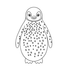 penguinanimals single icon in outline style vector image vector image