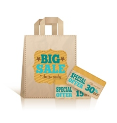 Big carry paper shopping bag vector image vector image