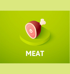 meat isometric icon isolated on color background vector image