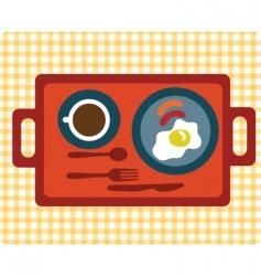 simple breakfast vector image