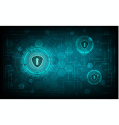 technology security concept with shield and keyhol vector image vector image