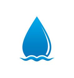 wave waterdrop sign logo vector image vector image
