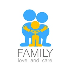 family love care logo vector image