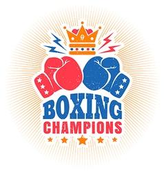 Kings boxing dark blue vintage vector