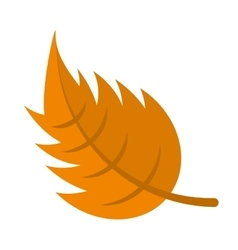 leaf autumn isolated icon vector image vector image