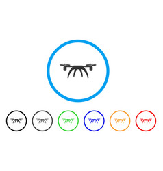 rotorcraft rounded icon vector image