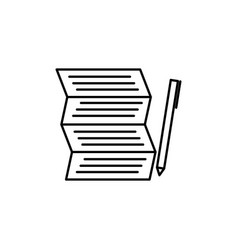 shoping to do list with pen icon vector image vector image