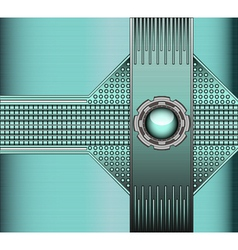 technical background with metallic vector image vector image