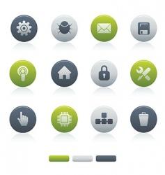 02 circle mixed computer icons vector image