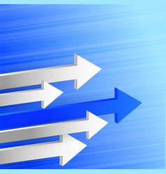 3d leading arrow in forward direction background vector image