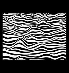 3d wavy surface background pattern with optical vector