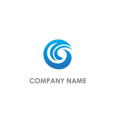 abstract wave g initial logo vector image