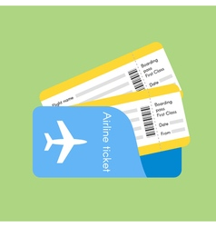 Airline tickets vector