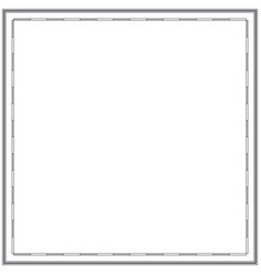 an empty frame a map geography cartography vector image