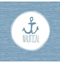 anchor nautical card vector image