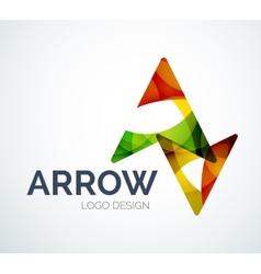 Arrow icon logo design made of color pieces vector