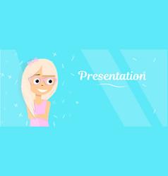 background for banner glamorous blonde vector image