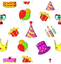 Birthday party pattern cartoon style vector