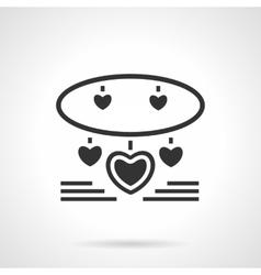 Black jewelry icon vector image