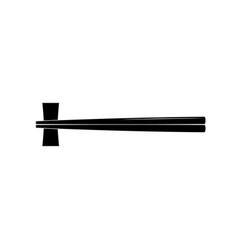 black wooden chopsticks flat icon chopstick vector image