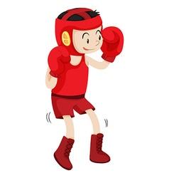 Boxer in red corner vector