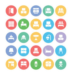 Building and Furniture Icons 6 vector image