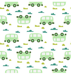 car cute baby green scandinavian seamless vector image