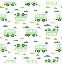 car cute bagreen scandinavian seamless vector image
