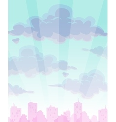 Cartoon cloudy sky background vector image