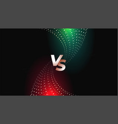 Challenge or comparison versus vs screen template vector