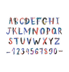 creative latin font or english alphabet hand drawn vector image