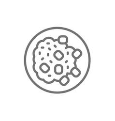 cuisine saudi arabia mansaf line icon vector image